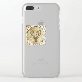 Vintage deer Clear iPhone Case