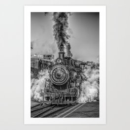 Vintage Steam Train Photo Art Print