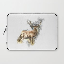 Watercolor Deer Laptop Sleeve