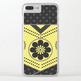 Black and yellow abstract pattern . Clear iPhone Case