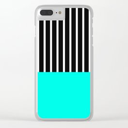 Half and Turq Clear iPhone Case