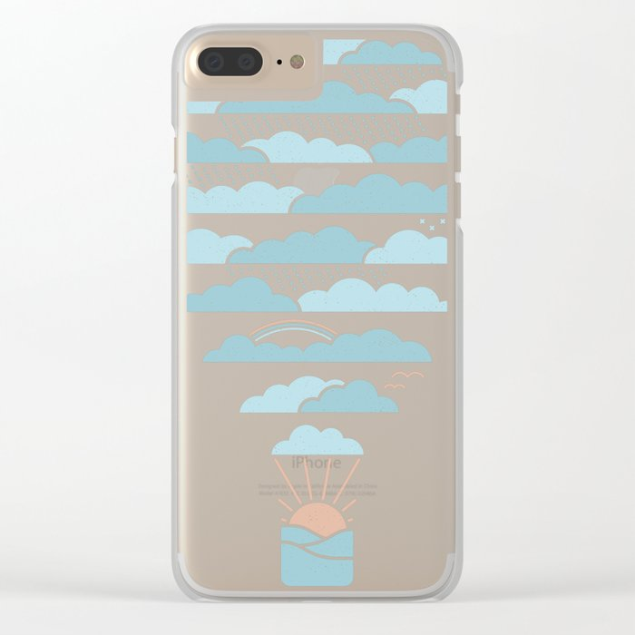 Weather Balloon Clear iPhone Case