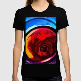 Red wine glass stylized photography T-shirt