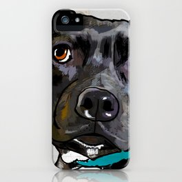 Dog: Staffordshire Bull Terrier iPhone Case