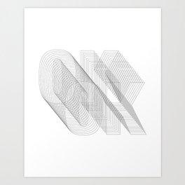 O K Art Print