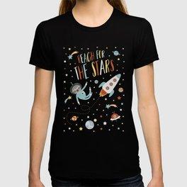 Space Sloth Reach the Stars T-shirt