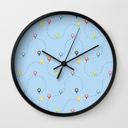 Traveling Path Wall Clock
