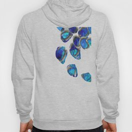 Blue And White Abstract Art - Falling 1 - Sharon Cummings Hoody