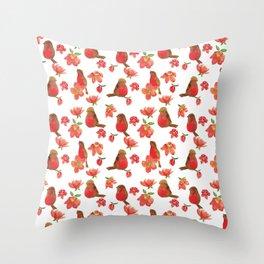 Hello Robin - White Version Throw Pillow