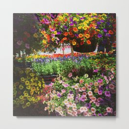 Flower market Metal Print