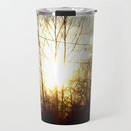 Silhouette of Trees  Travel Mug