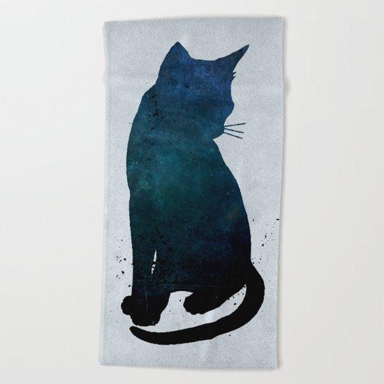 Dark Cat Beach Towel