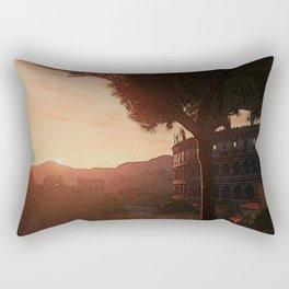 Sunset on ancient Rome Rectangular Pillow