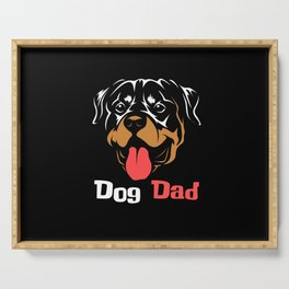 Dogs Daddy Cute Proud Shirt Design Serving Tray