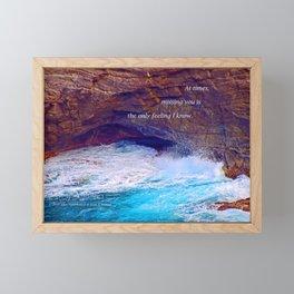 """Kauai's Land's End #9"" with poem: At Times Framed Mini Art Print"