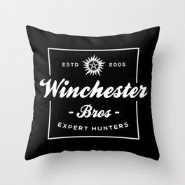 Winchester Bros - Expert Hunters Throw Pillow