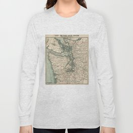 Vintage Map of The Puget Sound (1910) Long Sleeve T-shirt