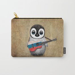 Baby Penguin Playing Russian Flag Guitar Carry-All Pouch