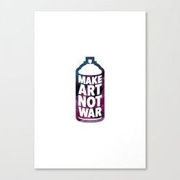 Make Art Not War (white) Canvas Print