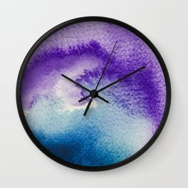 Paint-violet,blue,pink and white Wall Clock