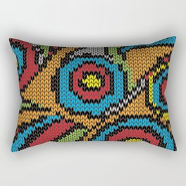 pullover circles Rectangular Pillow