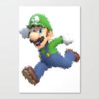 luigi Canvas Prints featuring Luigi by beepbeep1998