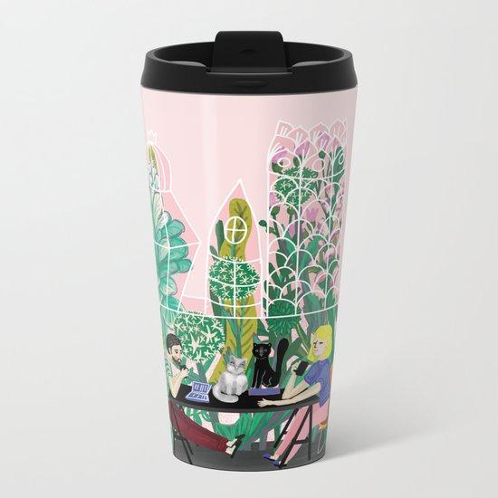 Take a coffee in the botanical garden Metal Travel Mug