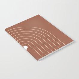 Mid Century Modern Geometric 15 (Terracotta and Beigel) Notebook