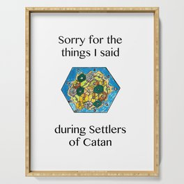 Catan, Settlers of Catan, Board Game, Geek Art, Nerd Art Serving Tray