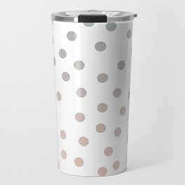 Simply Dots in Coral Peach Sea Green Gradient on White Travel Mug