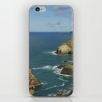 agnes cecile iPhone & iPod Skins featuring Cornish Seascape St Agnes  by Cornish Seascapes
