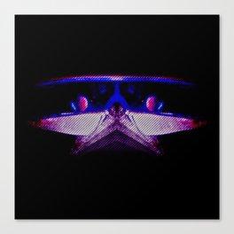 Hybrid Hound Blue Canvas Print