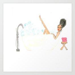 Bella's Bubble Bath Art Print