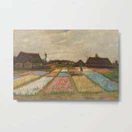 Classic Art - Flower Beds in Holland - Vincent van Gogh Metal Print