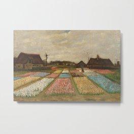 Classic Art - Flower Beds in Holland - Vincent van Gogh Metal Print