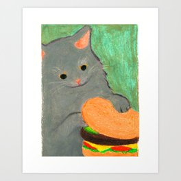 I can haz, but I'll skip on the pickle Art Print