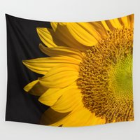 sunflower Wall Tapestries featuring sunflower by mark ashkenazi