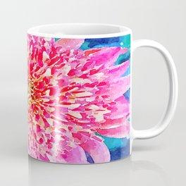 Pink Watercolor Flower Coffee Mug