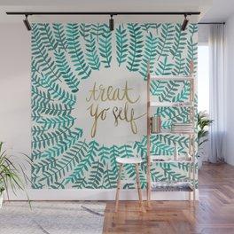 Treat Yo Self – Gold & Turquoise Wall Mural