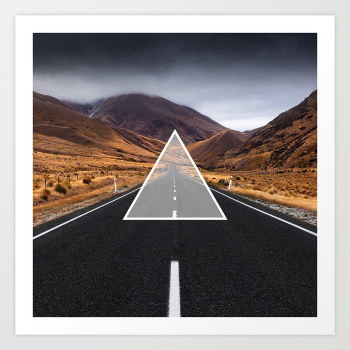 Route Triangle Art Print