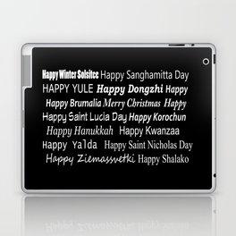 Happy Holidays! Midnight Laptop & iPad Skin