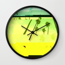LosAngelesYellow Wall Clock