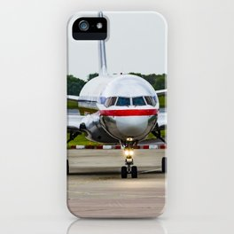 American Airlines N172AJ Boeing 757 at Manchester England iPhone Case
