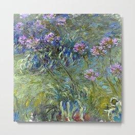 Claude Monet Agapanthus Metal Print