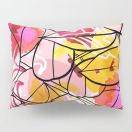 Painted Flowers & leaf Pillow Sham
