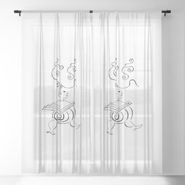Exquisite Corpse 1 Sheer Curtain