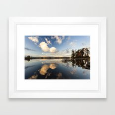 reflections on South Bay Framed Art Print