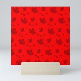 Canada Maple Leaf-Large-Red Mini Art Print