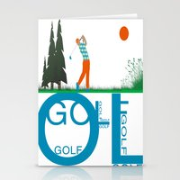 golf Stationery Cards featuring Golf, golf, golf! by South43