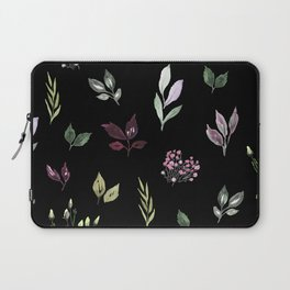 Tiny watercolor leaves pattern Laptop Sleeve